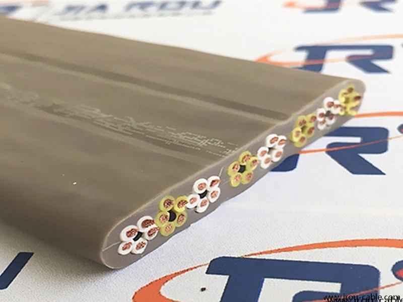 行车,起重机用多芯梅花型柔性扁平电缆(通用型号YFFB/YVFB)