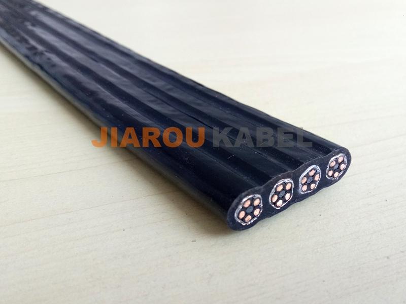 拖链扁电缆(聚氨酯护套)